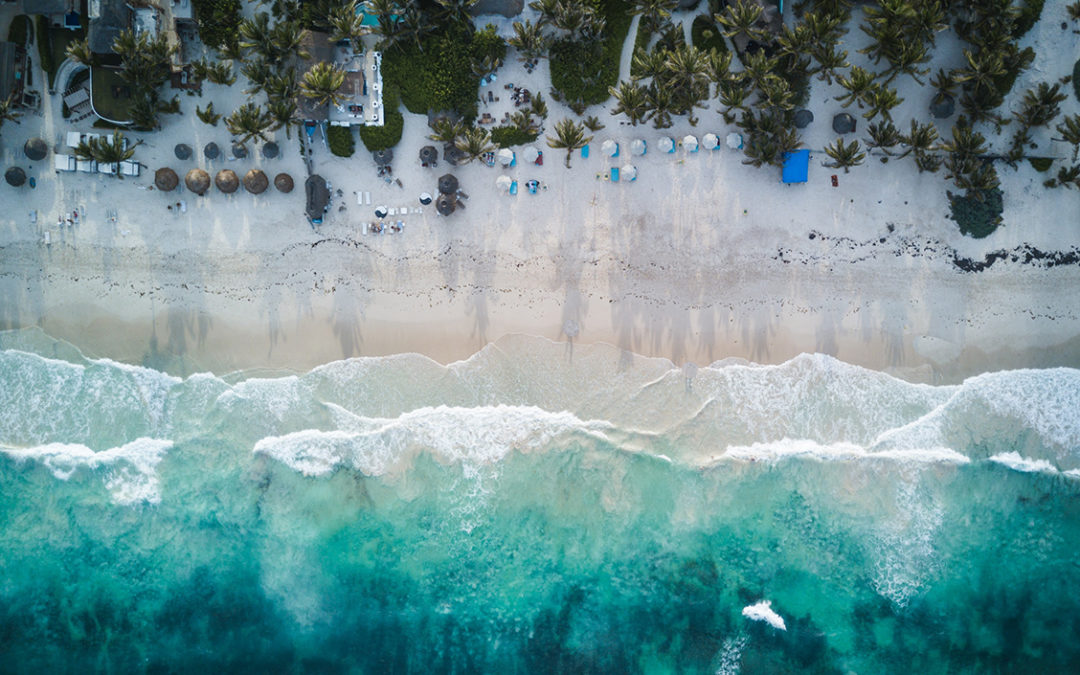 white-sand beach meets turquoise water