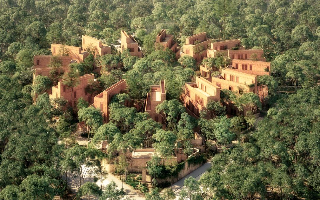 private villas formed around circular courtyard