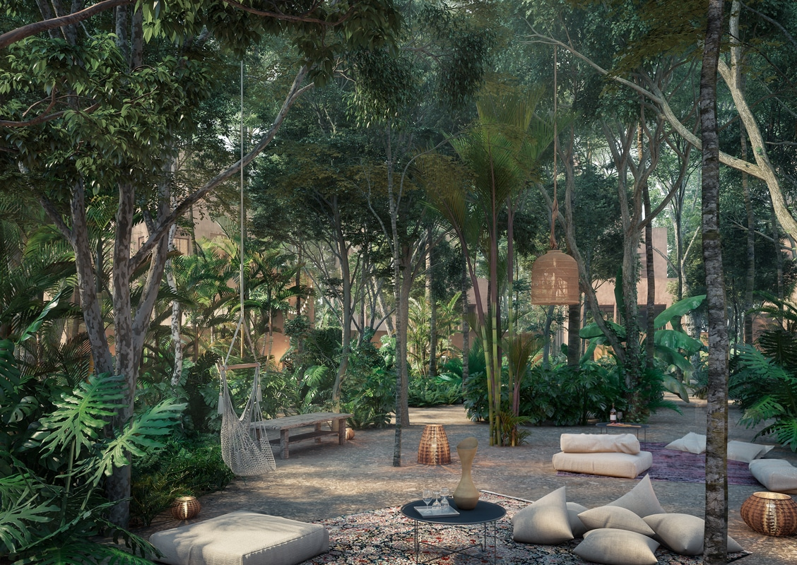 central outdoor arboretum